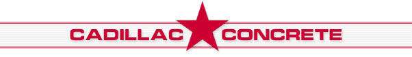 Cadillac Concrete Stamps Logo