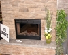 Flexcment Stamped Concrete Fireplace