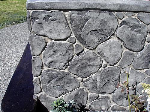 Flexcment Stamped Concrete Wall