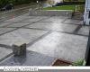 Large Ashler Stamped Concrete Driveway