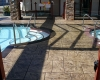 Large Ashler with Stone Skin Border Stamped Concrete Pool