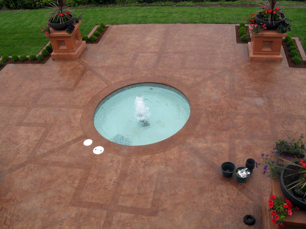 Stamped Concrete Water Features