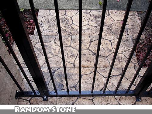 Random Stone Stamped Concrete Walkway