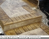 Acid Stain Stamped Concrete Stairs