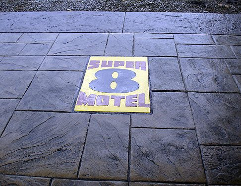 Vancouver Super 8 Stamped Concrete Project